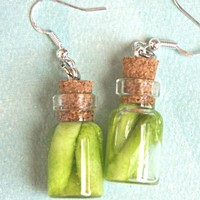 Pickles Jar Dangle Earrings