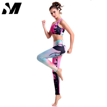 Women Print Tracksuits Sport Suits Two Piece Outfit Sweatshirt Fitness Casual Long Sleeve Hoodies Shirt Gym Jopping SM4S014