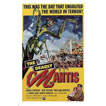 THE DEADLY MANTIS by Nathan Juran 1957 MOVIE POSTER 24X36 vintage horror NEW
