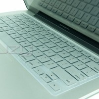 """Kuzy - METALLIC SILVER Keyboard Cover Silicone Skin for MacBook Pro 13"""" 15"""" (with or w/out Retina Display) iMac and MacBook Air 13-inch - Silver"""
