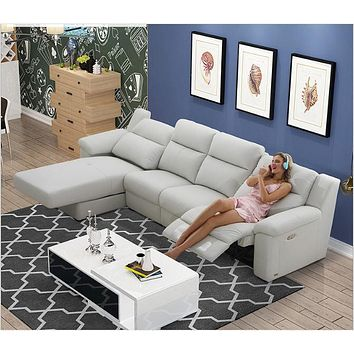 Supreme  Sectional  Electric  Recliner  Wide  Sofa