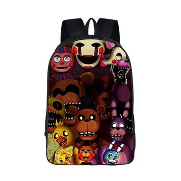 2018  at Freddy Backpack Cartoon School Bags Teenager Kids Kawaii Double-layered Personality Bag Children Book Bags