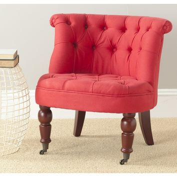 Safavieh Carlin Cranberry Tufted Chair