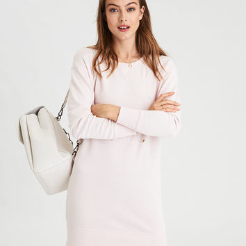 AE Fleece Crew Dress, Blush