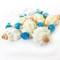 Beach Decor, Sea Shell Curtain Tiebacks, Shabby Chic Home Decor, Ocean Inspired Home Decor