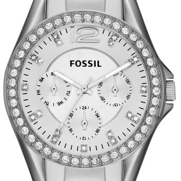 Fossil Riley Multifunction Crystal Dial ES3202 Women's Watch