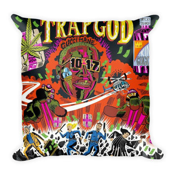Trap God (16x16) All Over Print/Dye Sublimation Gucci Mane Couch Throw Pillow Insert & Pillow Case/Cover