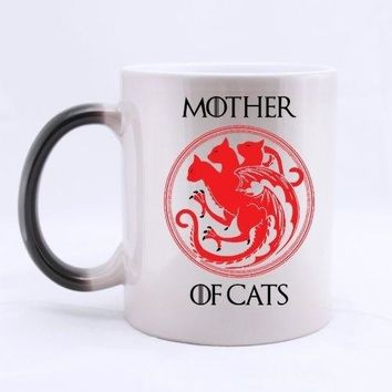Mother of Cats Morphing Ceramic Coffee Mug - Coffee Cup