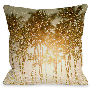"""Sparkly Summer"" Indoor Throw Pillow by OneBellaCasa, 16""x16"""