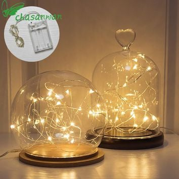 CHASANWAN Christmas Decorations for Home 2 M 20 Light Garland Lamp Battery Box New Year Gifts Christmas Tree Decorations Natal