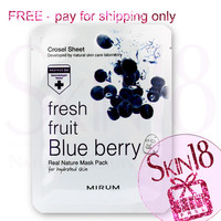 Freebies - Mirum Fresh Fruit Blue Berry Real Natural Mask Pack