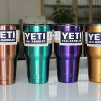 2016 New YETI Mugs Stainless Steel Tumbler Travel Insulated Mug Handle In Car Coffee Cup With Lid Large Capacity 30OZ Yeti Cups