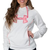 Under Armour Women's White With Pink Camo Fleece Hoody