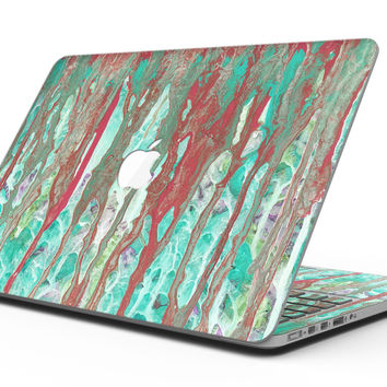 Abstract Wet Paint Mint Rustic - MacBook Pro with Retina Display Full-Coverage Skin Kit