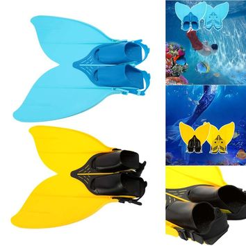Teen Teenager Professional Scuba Diving Fins Mermaid Swim Fin Diving Monofin Swimming Foot Flipper Snorkeling Shoes Equipment