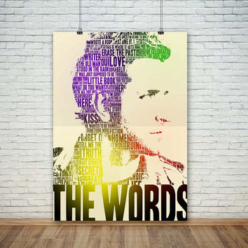 Bradley Cooper The Words , (Instant Download) , 300 dpi, Popular Digital Art, Decoration, Poster
