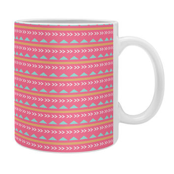 Allyson Johnson Pink Native Aztec Coffee Mug