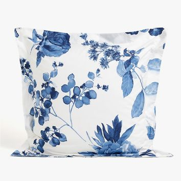 PILLOWCASE WITH BLUE WATERCOLOUR FLORAL DESIGN - PILLOWCASES - BEDROOM | Zara Home United States of America