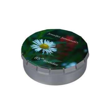 White Daisy Candy Tin Party Favor 85th Birthday