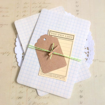 Vintage Graph Paper Journal Cards. Vintage Ephemera. Junk Journal Supply. Journal Paper. Note Paper. Vintage Paper. Ledger Paper. Old Paper.