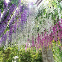New Artificial Flower Wisteria Home Garden Hanging Flowers Vine Wedding Plant Decor = 1932595908