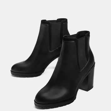 Elastic high heel ankle boots - Boots & Ankle boots - Bershka United States