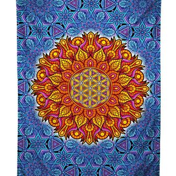 Flower Of Life Sacred Geometry Tapestry