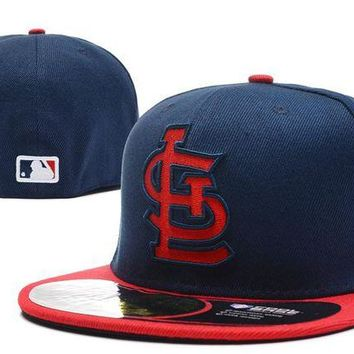 DCCKBE6 St. Louis Cardinals New Era MLB Authentic Collection 59FIFTY Hat Blue-Red
