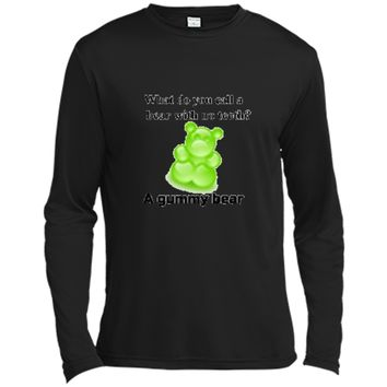 Joke T-Shirt Funny Parody Gummy Bear Prank unisex-child Kids Long Sleeve Moisture Absorbing Shirt