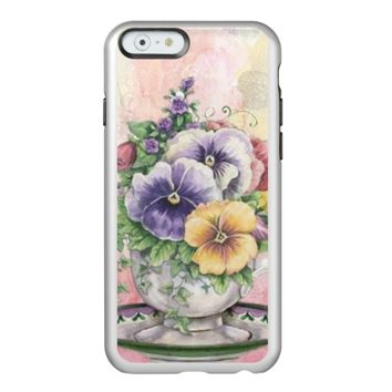 lovely floral teacup incipio feather® shine iPhone 6 case