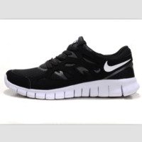 NIKE running shoes light casual shoes Black and gray