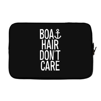 boat hair don't care Laptop sleeve