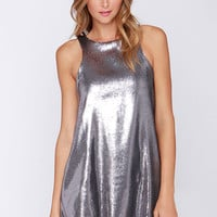 Glamorous Shining Amour Pewter Sequin Dress