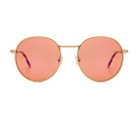Wildfox Couture Dakota Deluxe Sunglasses in Antique Gold Tokyo Tortoise & Pink Mirror