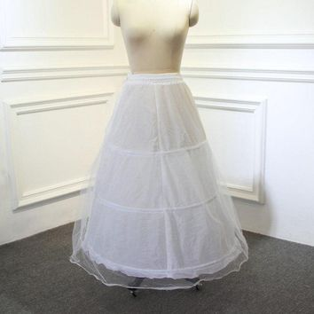 8806b1db965e A-line Bone Full Crinoline Petticoat Wedding Skirt Slip