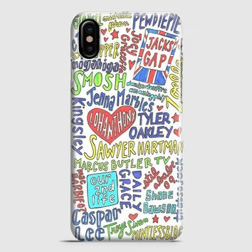 Collage Youtubers Art iPhone X Case