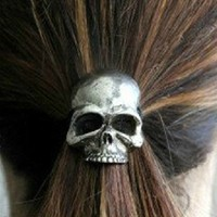 Cute Punk Skull Hair Band Women's Hair Accessories from looback