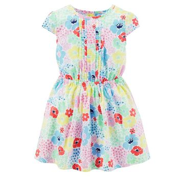 Carter's Floral Woven Dress - Toddler Girl, Size: