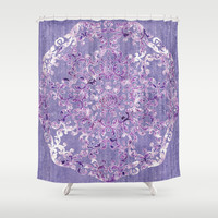A Taste of Lilac Wine Shower Curtain by Octavia Soldani | Society6