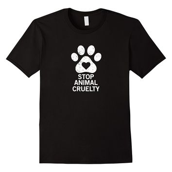 Stop Animal Cruelty Cause T-shirt Summer Short Sleeve Cotton Summer Short Sleeves Cotton T-Shirts  Design Basic Top Tee