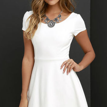 Winning Look Ivory Skater Dress