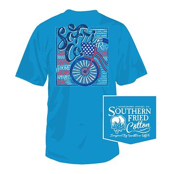 Ride Free Tee in Snow Cone by Southern Fried Cotton