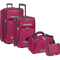 U.S. Traveler Westport 4-Piece Luggage Set - Plum