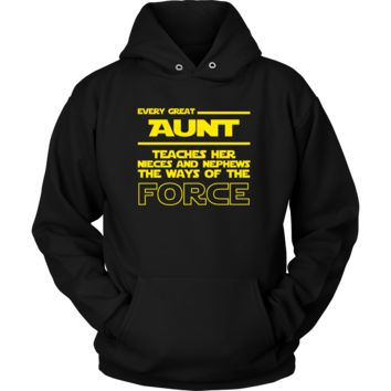 Great Aunt Teaches Force Hoodie
