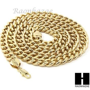 Mens Hip Hop Iced Out Gold Star Of David Pendant 30' / 36' Cuban Necklace N22