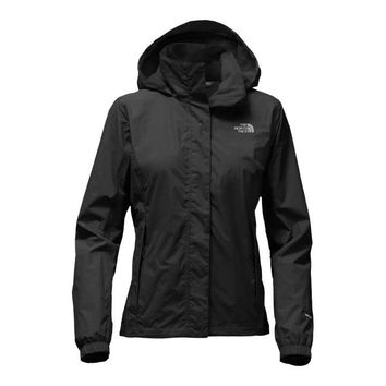 The North Face Resolve 2 Rain Jacket for Women in TNF Black NF0A2VCU-JK3