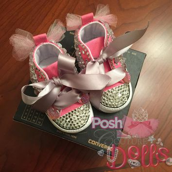 Posh Princess Couture Bling Converse Infant Booties