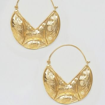 Ottoman Hands Statement Crescent Hoop Earrings at asos.com
