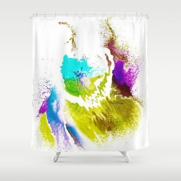 VIOLA WOO COLLECTIONS Shower Curtain by violajohnsonriley