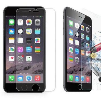 9H Tempered Glass Screen Protector for iPhone 7 7Plus & iPhone 5s 6s 6 Plus & iPhone X 8 Plus with Gift Box